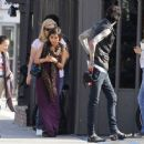 Brenda Song spent the afternoon with her boyfriend, Trace Cyrus, and his family yesterday, September 25, in Los Angeles - 454 x 363