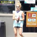 Ashley Tisdale At A Gas Station In La