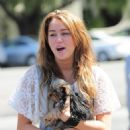 Miley Cyrus - Leaves Popular Diner, Paty's In Toluca Lake, 2009-04-03