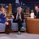 Theodora & Keith Richards with Jimmy Fallon at The Tonight Show