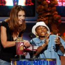 Katie Holmes and Lil' Bow Wow during The 2002 MTV Movie Awards - Show