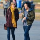 Harry Styles with his rumored girlfriend Taylor Swift as they take a walk around Central Park in New York City on Dec. 2