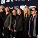 Def Leppard attend the 2019 Rock & Roll Hall Of Fame Induction Ceremony - Press Room at Barclays Center on March 29, 2019 in New York City - 454 x 302