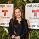 Ana Maria Canseco- Telemundo NATPE Party Red Carpet Arrivals - 399 x 600