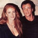 Angie Everhart and Sylvester Stallone