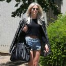 Julianne Hough in Jeans Shorts out in Sacramento - 454 x 681