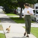 Willa Holland with her dog in Los Angeles - 454 x 444