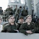 The men of Easy Company – Ralph 'Iggy' Ignatowski (Jamie Bell), John 'Doc' Bradley (Ryan Phillippe), Lundsford (Scott Reeves), Franklin Sousley (Joseph Cross) and Harlan Block (Ben Walker) in DreamWorks Pictures' Flags of Our Fat