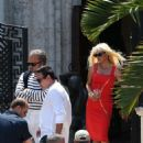 Penelope Cruz in Red Dress on the set of 'American Crime Story' in Miami