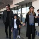 William Levy and Elizabeth Gutierrez Arrive at LAX