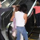 Jenna Dewan and family are seen at LAX