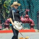 Lucy Punch – Takes her pooch for a walk in Beverly Hills