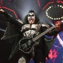Gene Simmons of KISS performs during their End Of The Road World Tour at The Forum on February 16, 2019 in Inglewood, California - 454 x 333