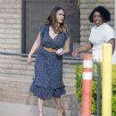 Jessica Alba in Blue Dress – Visits her friends in Santa Monica - 454 x 515