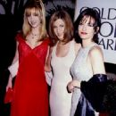 Lisa Kudrow, Jennifer Aniston and Courteney Cox At The 53rd Annual Golden Globe Awards (January 21, 1996) - Arrivals - 454 x 630