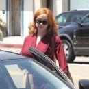 Christina Hendricks shopping at Rummage along Melrose Ave in Los Angeles, California (July 26)
