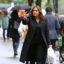 Mariska Hargitay at the 'Law and Order: SVU' set in NYC