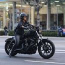 Halle Berry – Ride Harley Davidson bike in Beverly Hills - 454 x 302