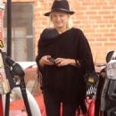 Malin Akerman at a gas station in Los Feliz