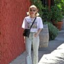 Emma Roberts – Wearing T-shirt and jeans out in Los Angeles