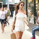 Emily Ratajkowski in White Mini Dress – Out in New York City