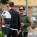 Pete Wentz is spotted out for lunch in Studio City, California with a friend on January 9, 2017 - 454 x 583