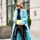 Rosie Huntington Whiteley – Wearing a Burberry coat in SoHo