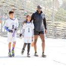 Seal spotted out in Los Angeles watching his kids flag football game Saturday October 15, 2016