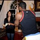 Gilbert Arenas and Laura Govan