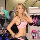 Lindsay Ellingson celebrates the launch of the World's Best Sport Bras from Victoria's Secret Sport on October 22, 2013 in New York City
