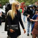 Paris Hilton: arriving at a New York City courthouse