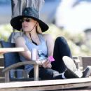 Kaley Cuoco – Seen At Equestrian Center In Los Angeles - 454 x 332