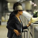 Marion Cotillard - Departs LAX Airport With Boyfriend Guillaume Canet - July 13, 2010