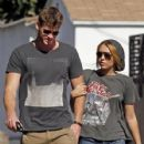 Miley Cyrus spent her Saturday afternoon, August 20, shopping with her boyfriend, Liam Hemsworth