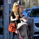 Amanda Seyfried with her daughter Shopping in Beverly Hills