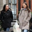 Katie Holmes walks with her friend around Manhattan, New York's West Village neighborhood on January 10, 2017 - 454 x 350