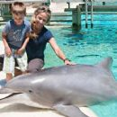 Sheryl Crow and her sons Wyatt and Levi at SeaWorld in San Diego, CA (July 26)