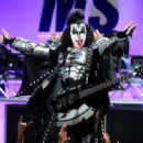 Musician Gene Simmons of KISS performs onstage during the 23rd Annual Race To Erase MS Gala at The Beverly Hilton Hotel on April 15, 2016 in Beverly Hills, California