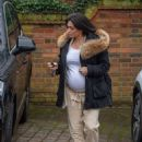 Casey Batchelor – Shows off her growing baby bump spotted out in Hertfordshire - 454 x 611