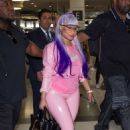 Nicki Minaj at Melbourne airport in Australia