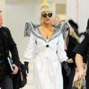 Lady Gaga Arriving at JFK Airport - December 24, 2011