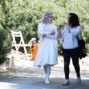Emma Roberts – Filming 'Paradise Hills' in Barcelona