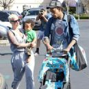 Amber Rose, Wiz Khalifa, and Sebastian at The Commons shopping center in Calabasas, California - March 17, 2014