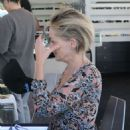 Sharon Stone in Sheer Dress out in Beverly Hills - 454 x 561