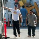 Josh Duhamel oversees construction on his new house on January 3, 2013