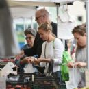 Cameron Diaz and Benji Madden at Farmers Market in LA