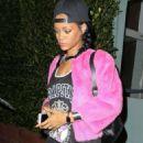 Rihanna Leaving Giorgio Baldi In Santa Monica
