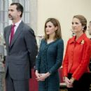 King Felipe VI of Spain and Queen Letizia of Spain attend National Sport Awards 2013 (December 4, 2014) - 454 x 426