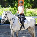 Iggy Azalea goes horseback riding in Los Angeles, California on April 1, 2016
