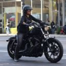 Halle Berry – Ride Harley Davidson bike in Beverly Hills